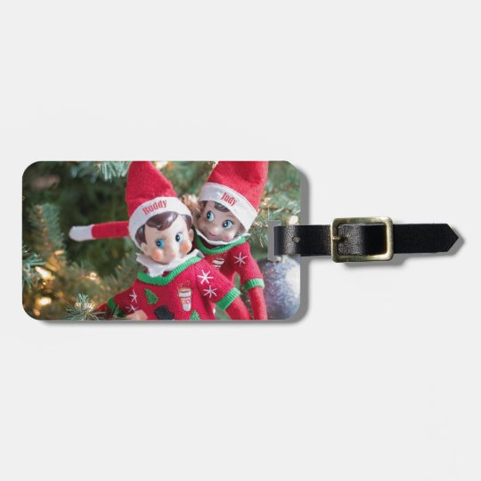 Christmas Elf Luggage Tag