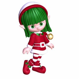 Christmas Elf Photo Sculpture Ornament