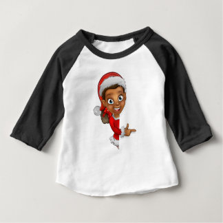 Christmas Elf Pointing Baby T-Shirt