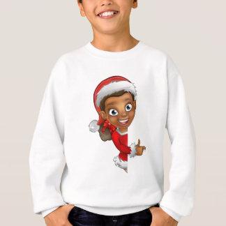 Christmas Elf Pointing Sweatshirt