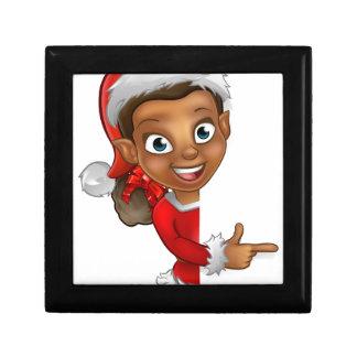 Christmas Elf Pointing Trinket Boxes