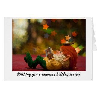 Christmas Elf Relaxing Card