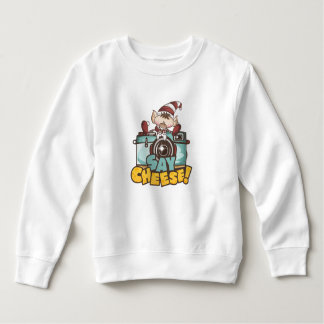 "Christmas Elf - ""Say Cheese"" baby Sweatshirt"