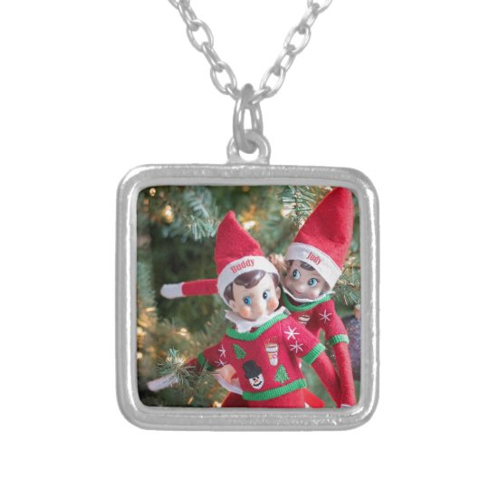 Christmas Elf Silver Plated Necklace