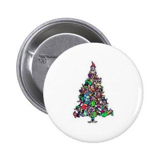 Christmas Elf Tree Button