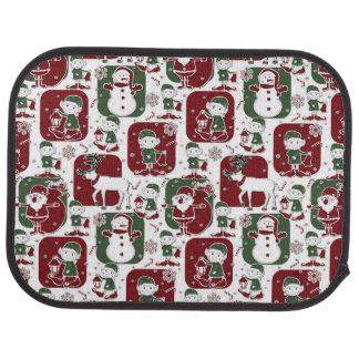 Christmas Elves & Snowmen Car Mat