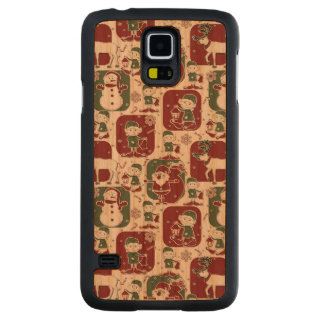 Christmas Elves & Snowmen Carved Cherry Galaxy S5 Case