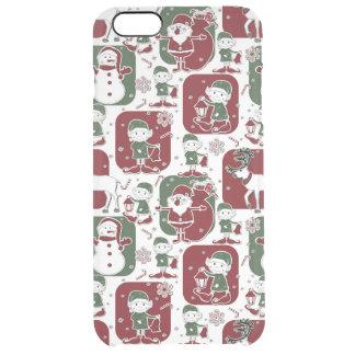 Christmas Elves & Snowmen Clear iPhone 6 Plus Case