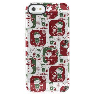 Christmas Elves & Snowmen Clear iPhone SE/5/5s Case