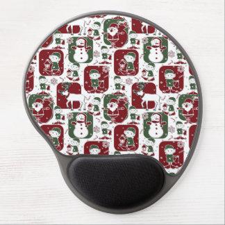 Christmas Elves & Snowmen Gel Mouse Pad