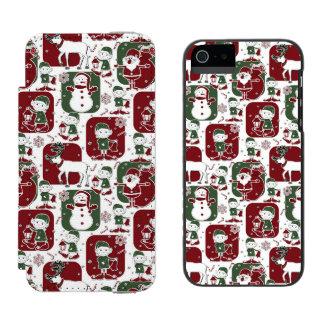 Christmas Elves & Snowmen Incipio Watson™ iPhone 5 Wallet Case
