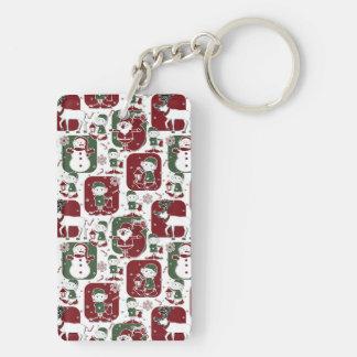 Christmas Elves & Snowmen Keychain