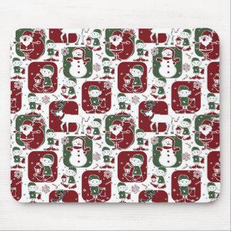 Christmas Elves & Snowmen Mouse Pad