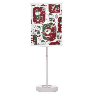 Christmas Elves & Snowmen Table Lamps