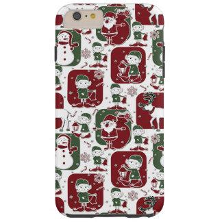Christmas Elves & Snowmen Tough iPhone 6 Plus Case
