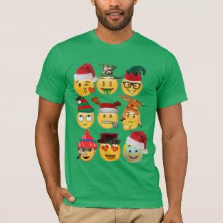 christmas emoji collection funny shirt-design T-Shirt