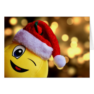 Christmas Emoji Smiley Face Holiday Card