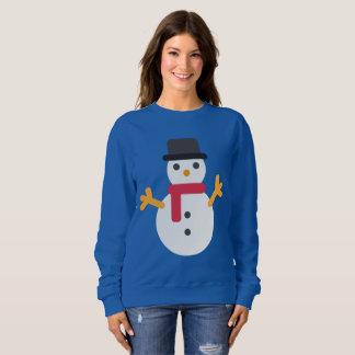 Christmas emoji snowman womens sweatshirt