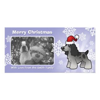 Christmas English Cocker Spaniel Personalized Photo Card