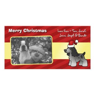 Christmas English Cocker Spaniel Photo Card Template