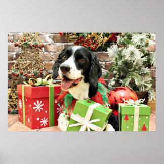 Christmas - English Springer Spaniel - Betsy Poster