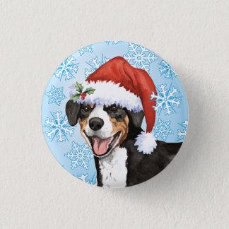 Christmas Entlebucher 1 Inch Round Button