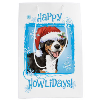 Christmas Entlebucher Medium Gift Bag