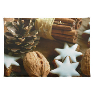 Christmas eve abstract sweets decoration placemat