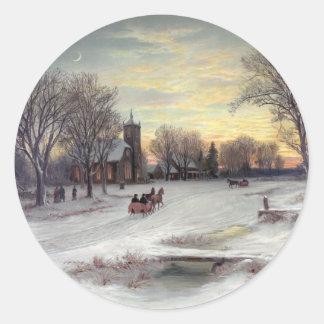 Christmas Eve Classic Round Sticker