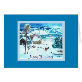 Christmas Eve in Vermont Greeting Card