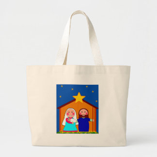 Christmas Eve Large Tote Bag