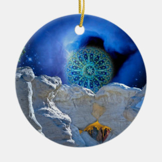 Christmas Eve Magic Ceramic Ornament