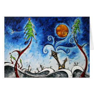 Christmas Eve Original Art Greeting Card Design