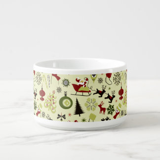 Christmas Eve Pattern Bowl
