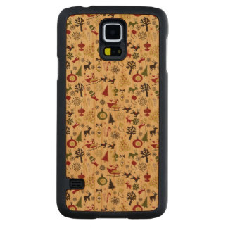 Christmas Eve Pattern Carved Cherry Galaxy S5 Case