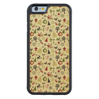 Christmas Eve Pattern Carved Maple iPhone 6 Bumper Case