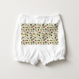 Christmas Eve Pattern Diaper Cover