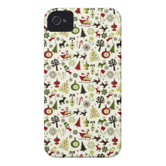 Christmas Eve Pattern iPhone 4 Case-Mate Cases