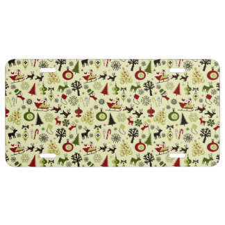 Christmas Eve Pattern License Plate
