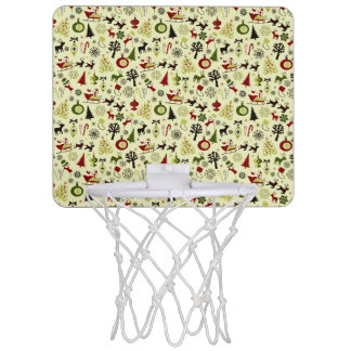 Christmas Eve Pattern Mini Basketball Hoop