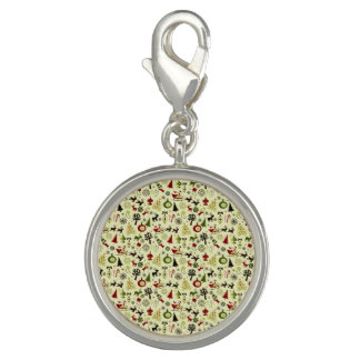 Christmas Eve Pattern Photo Charms