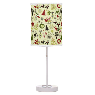 Christmas Eve Pattern Table Lamp