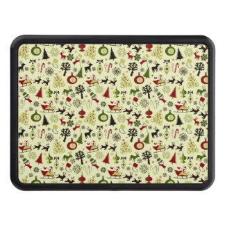 Christmas Eve Pattern Trailer Hitch Cover
