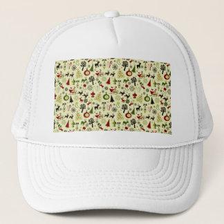 Christmas Eve Pattern Trucker Hat