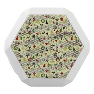 Christmas Eve Pattern White Bluetooth Speaker