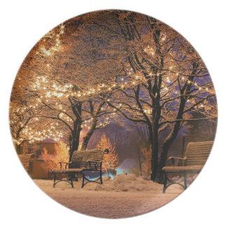 Christmas eve plate