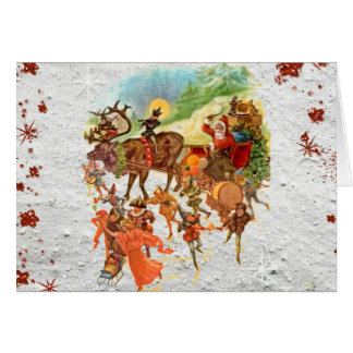 Christmas Eve Ride With Santa Greeting Card
