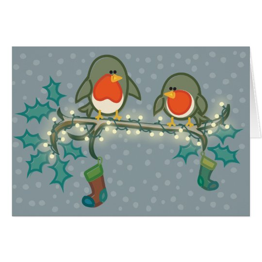 Christmas Eve Robins Card