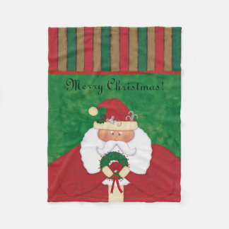 Christmas Eve Santa Fleece Blanket