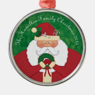 Christmas Eve Santa Personalized Metal Ornament